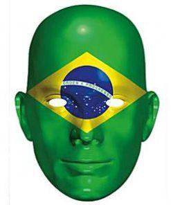 Brazil Flag Mask
