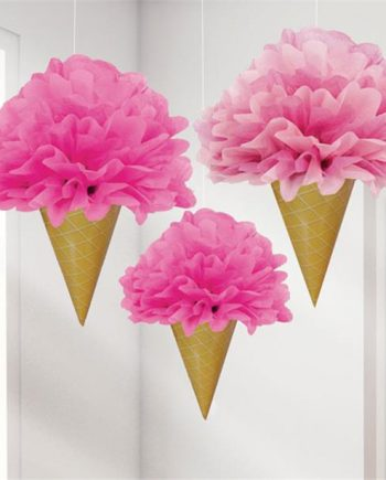 Ice Cream Pom Pom Decorations