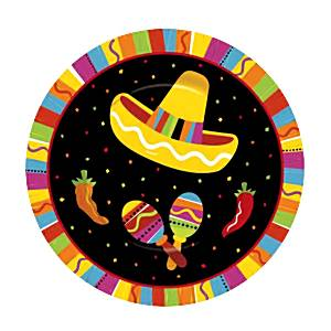 Mexican Fiesta Party Paper Plates