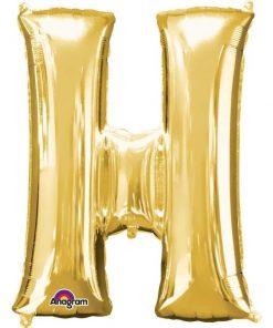 "Gold Letter H - 16"" Foil Balloon"