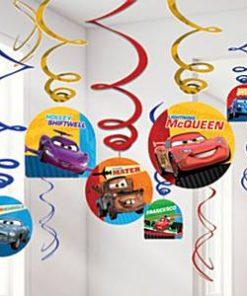 Disney Cars Neon Hanging Swirl Decorations