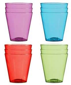 Multi-coloured Plastic Shot Glasses