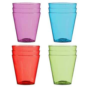 Multi-coloured Plastic Shot Glasses