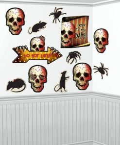 Scary Clown Halloween Cutouts