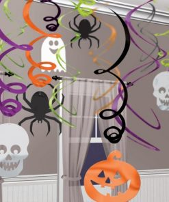 Halloween Hanging Swirl Decorations