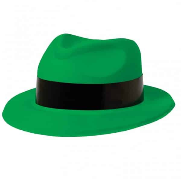 Totally 80s Green Fedora Hat
