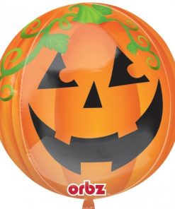 Halloween Pumpkin Orbz Foil Balloon