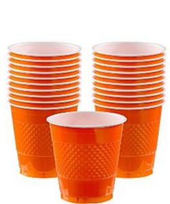 Orange Party Plastic Cups - 266ml
