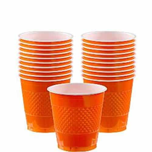 Orange Party Plastic Cups - 266ml