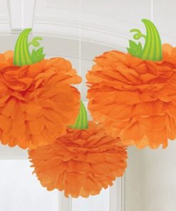 Halloween Pumpkin Pom Pom Decorations