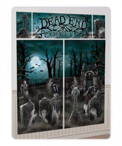 Halloween Cemetery Scene Setter