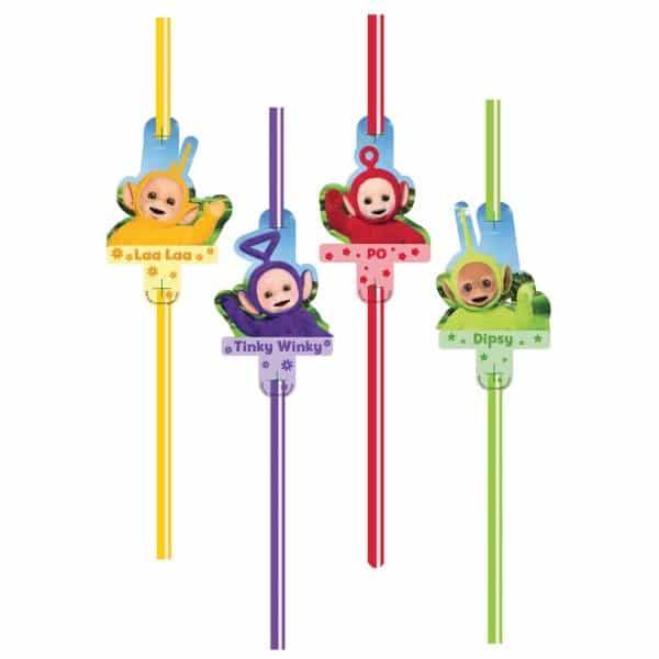 Teletubbies Party Straws