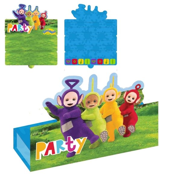 Teletubbies Party Stand-up Invitations & Envelopes