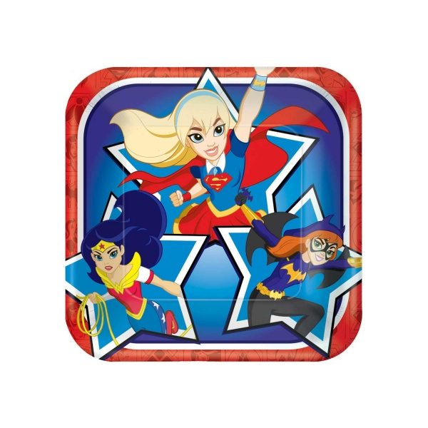 Super Hero Girls Party Square Paper Plates