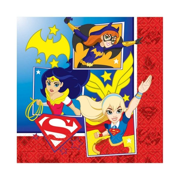 Super Hero Girls Party Lunch Paper Napkin