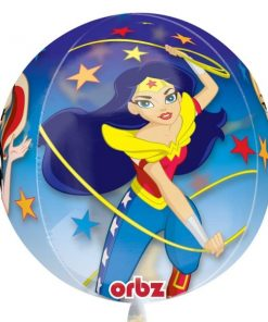 Super Hero Girls Party Orbz Clear Foil Balloon