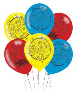 Super Hero Girls Party Printed Latex Balloons