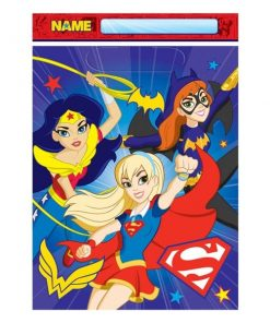 Super Hero Girls Party Plastic Loot Bags