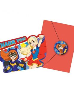 Super Hero Girls Party Thank You Cards & Envelopes