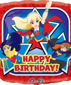 Super Hero Girls Party Happy Birthday Foil Balloon