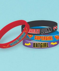 Super Hero Girls Party Rubber Bracelets