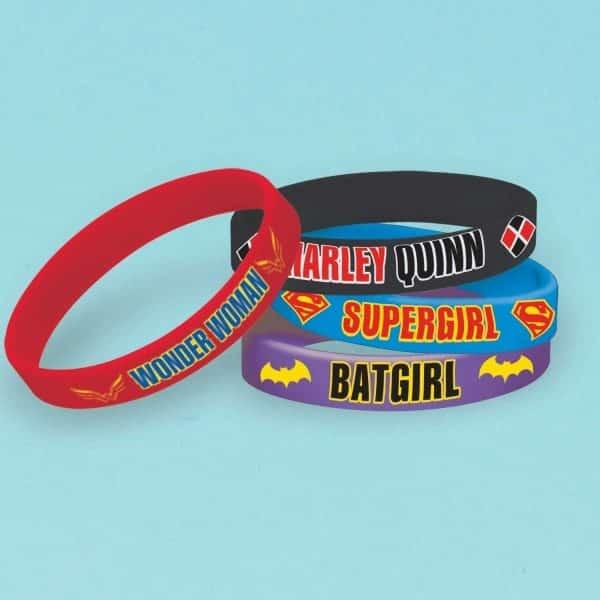 Super Hero Girls Party Rubber Bracelets