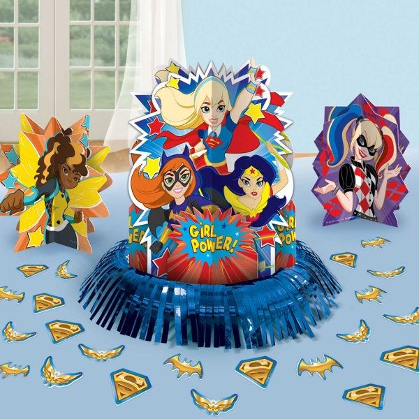 Dc superhero girls themed party decorations fun party for Decoration chambre super heros