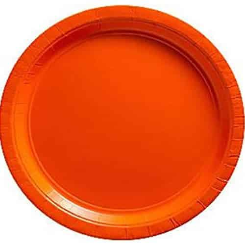 Orange Serving Paper Plates - 26cm