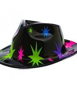 Totally 80s Paint Starburst Fedora Hat