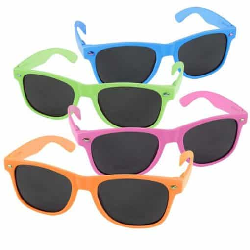 80s Neon Wayfarer Glasses