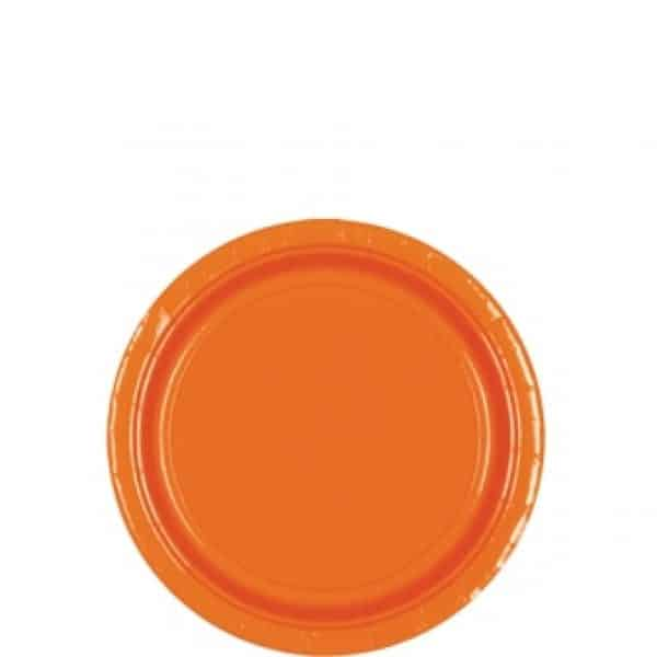 Orange Party Paper Dessert Plates
