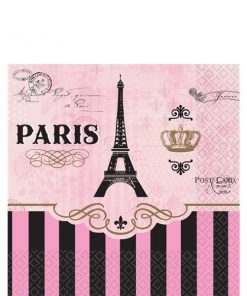 A Day in Paris Party Paper Beverage Napkins