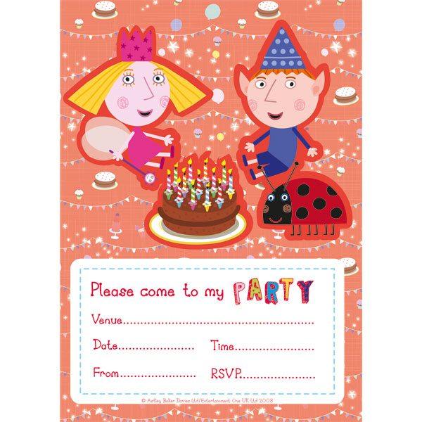 Ben & Holly Party Invites