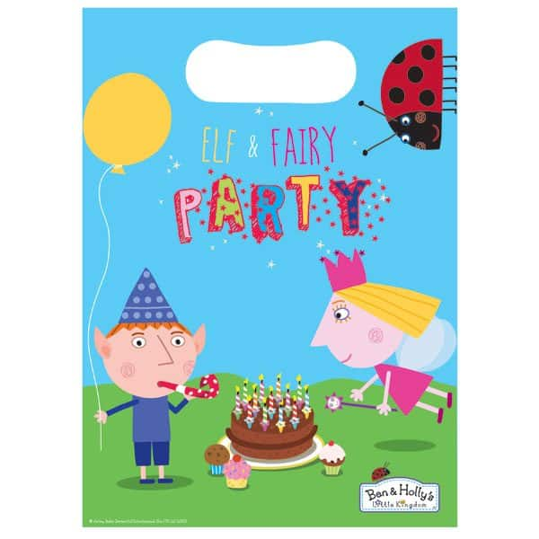 Ben & Holly Party Plastic Loot Bags