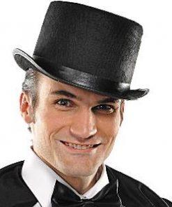 Halloween Black Felt Top Hat