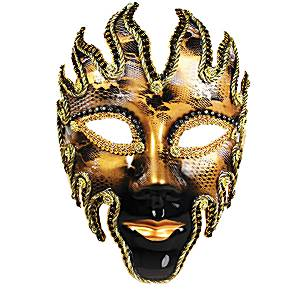 Black & Gold Glazed Masquerade Mask