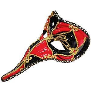 Black & Red Loki Masquerade Mask
