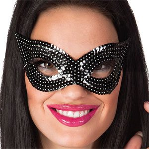 Black Sequin Eye Masquerade Mask
