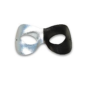 Black & Silver Domino Masquerade Mask