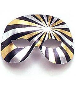 Black, Silver & Gold Domino Masquerade Mask