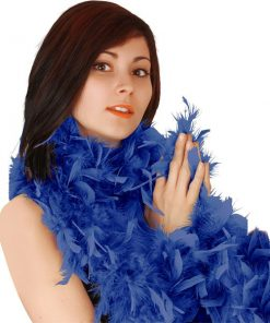 Blue Deluxe Feather Boa