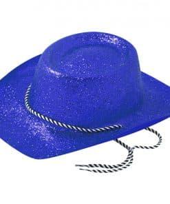 Blue Glitter Cowboy Hat