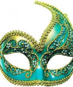 Blue & Gold Decorative Masquerade Mask