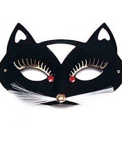 Cat Domino Masquerade Mask