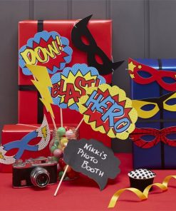 Comic Superhero Photo Booth Props