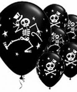 Halloween Dancing Skeleton Printed Latex Balloons