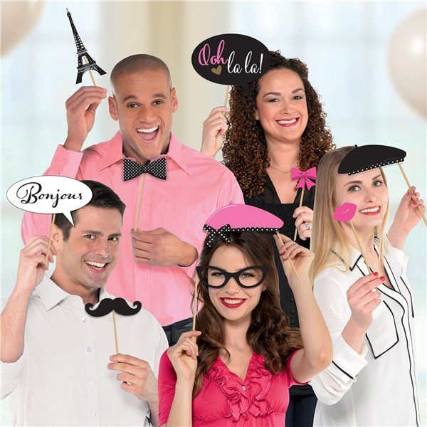 Day In Paris Party Photo Booth Props