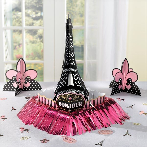Day In Paris Party Table Decoration Kit