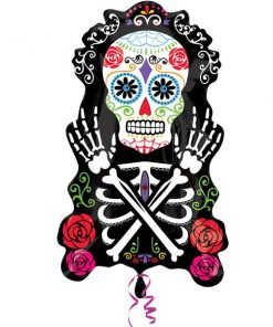 Halloween Day of the Dead SuperShape Foil Balloon