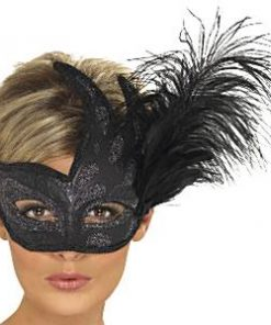 Fancy Dress Accessories Ornate Columbina Feather Mask